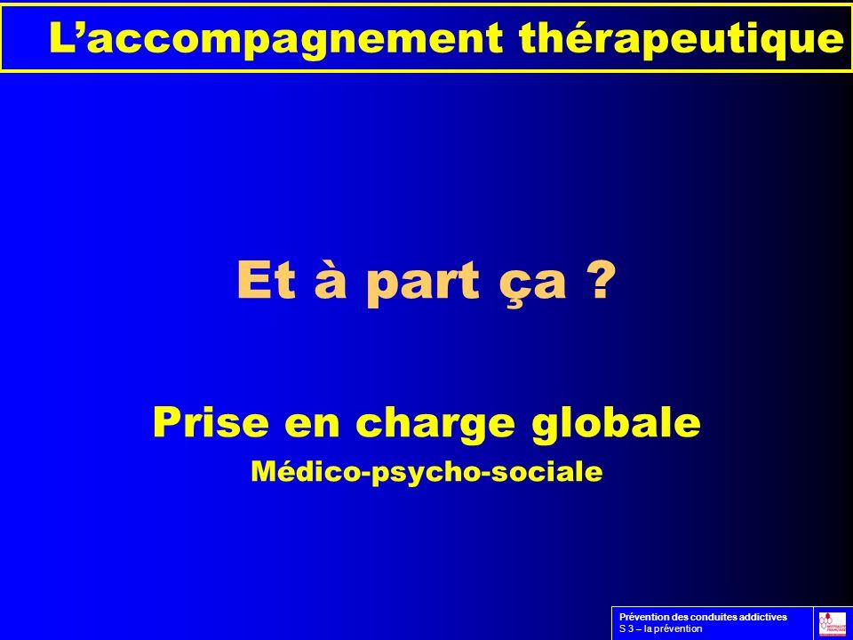 Et à part ça L'accompagnement thérapeutique Prise en charge globale