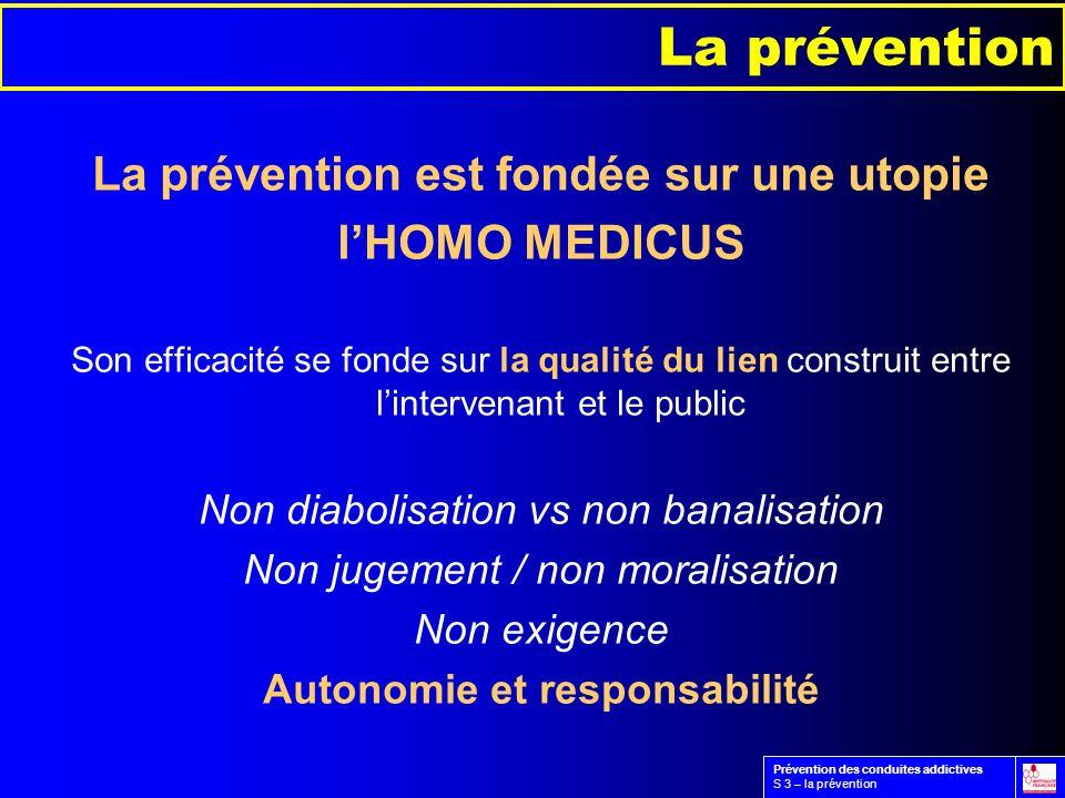 La prévention est fondée sur une utopie Autonomie et responsabilité