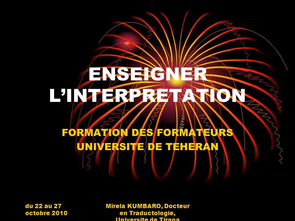 ENSEIGNER L'INTERPRETATION