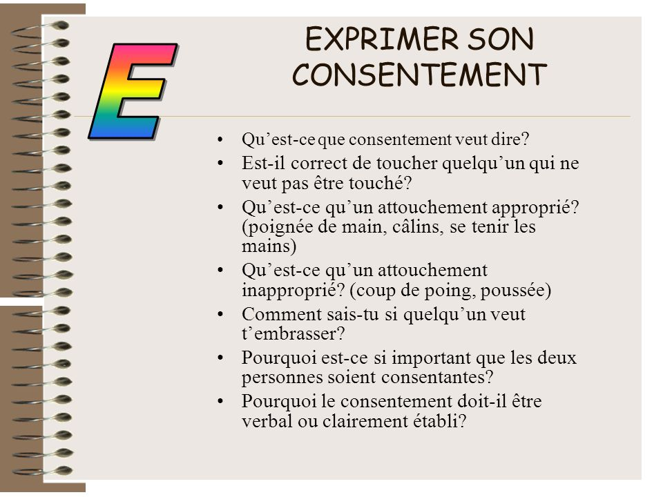 EXPRIMER SON CONSENTEMENT