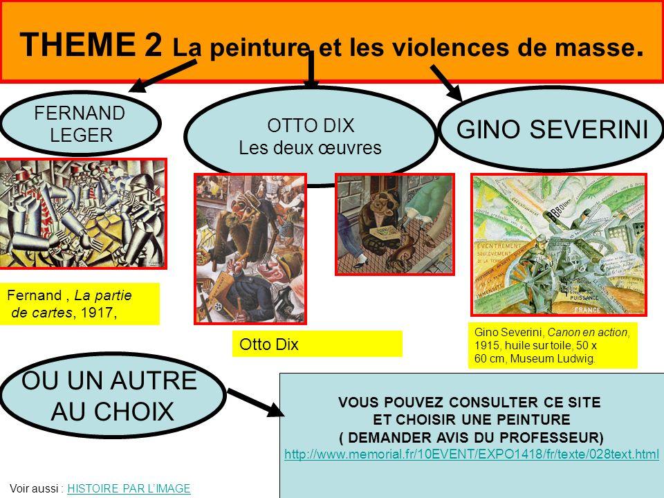 THEME 2 La peinture et les violences de masse.