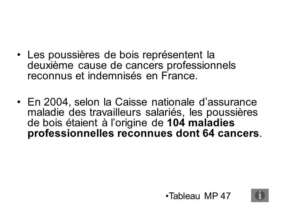 Les poussières de bois représentent la deuxième cause de cancers professionnels reconnus et indemnisés en France.