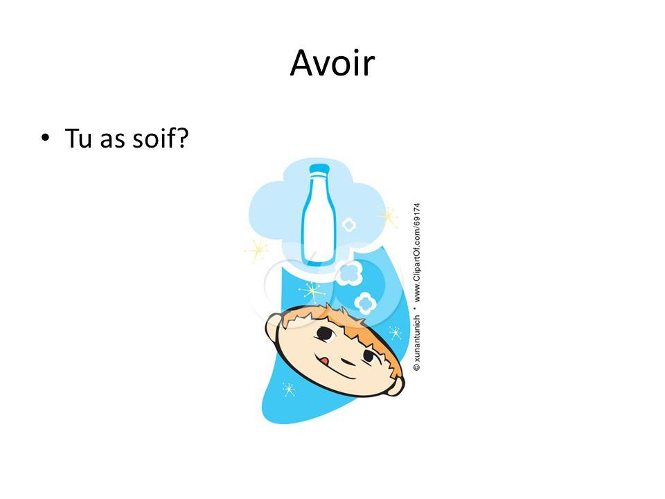 Avoir Tu as soif