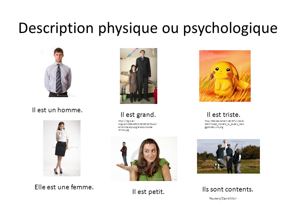 Description physique ou psychologique