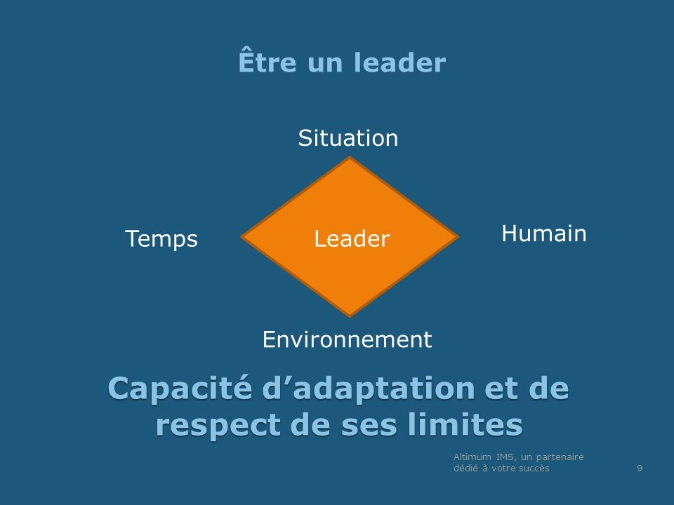 Capacité d'adaptation et de respect de ses limites
