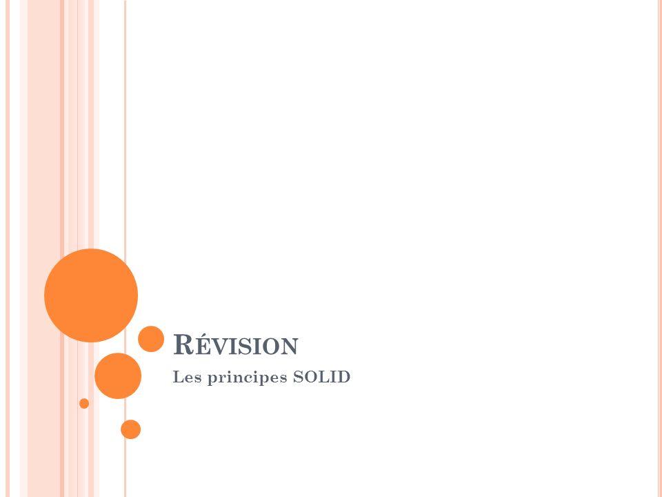 Révision Les principes SOLID