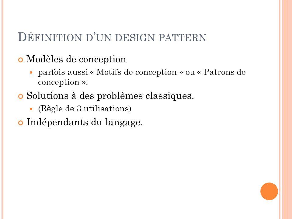 Définition d'un design pattern