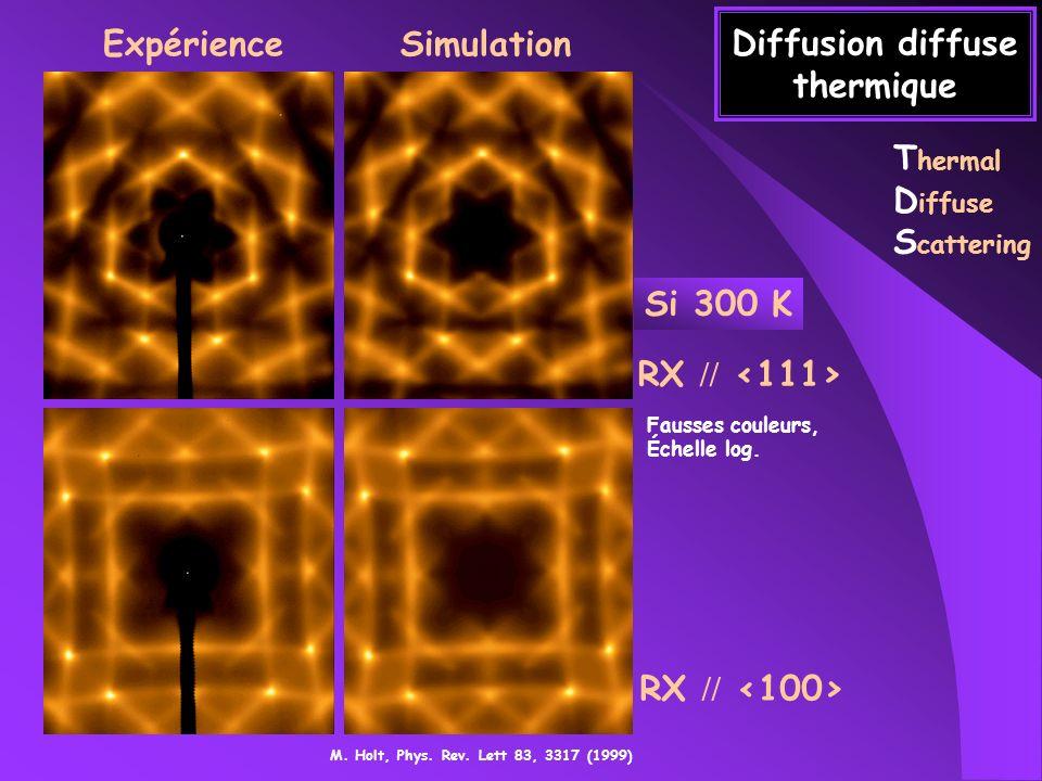 Diffusion diffuse thermique