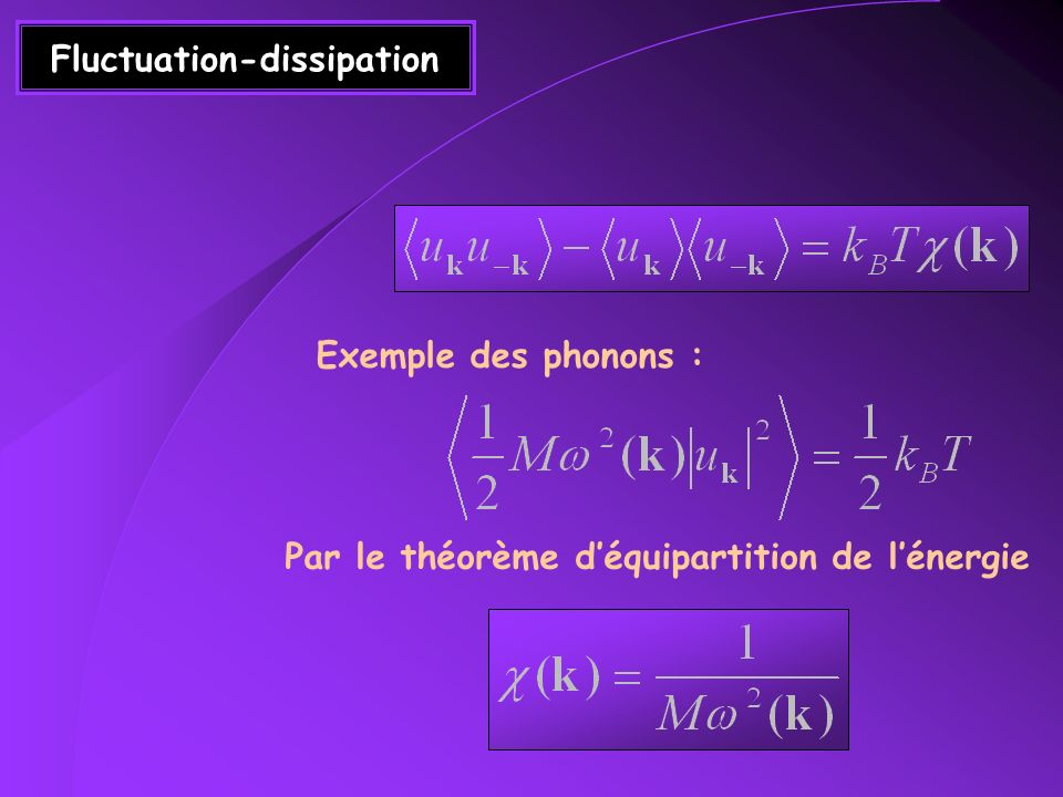 Fluctuation-dissipation