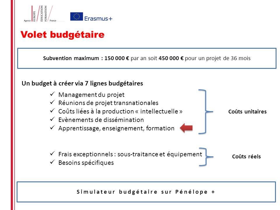 Simulateur budgétaire sur Pénélope +