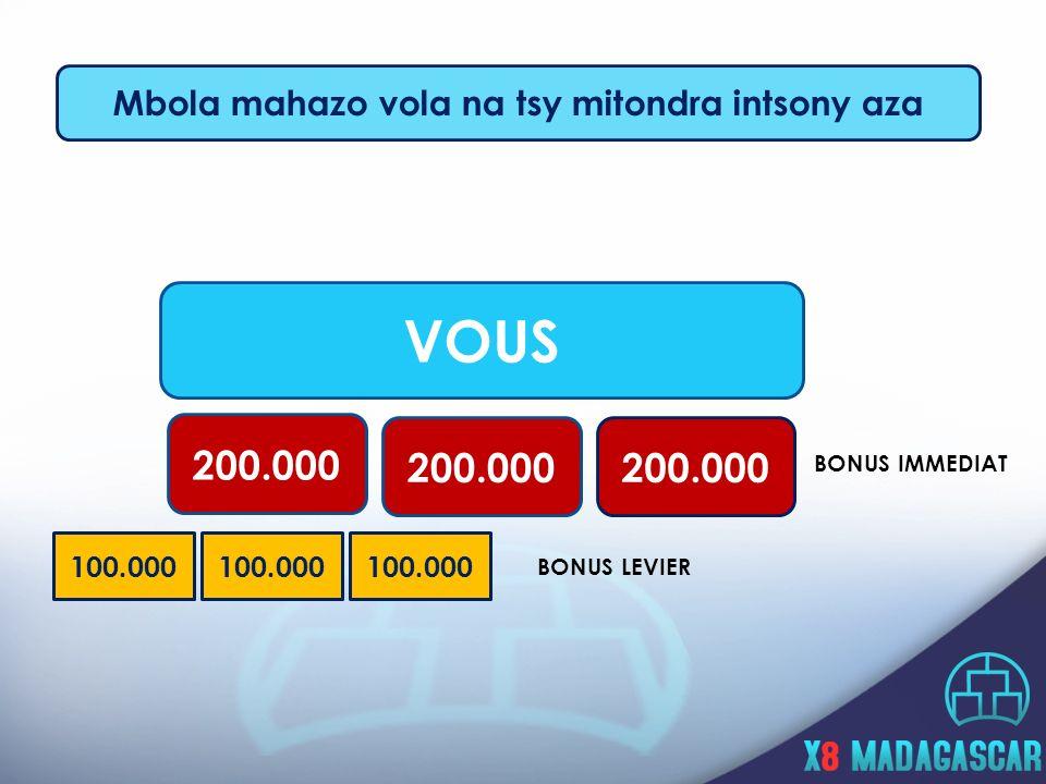 Mbola mahazo vola na tsy mitondra intsony aza