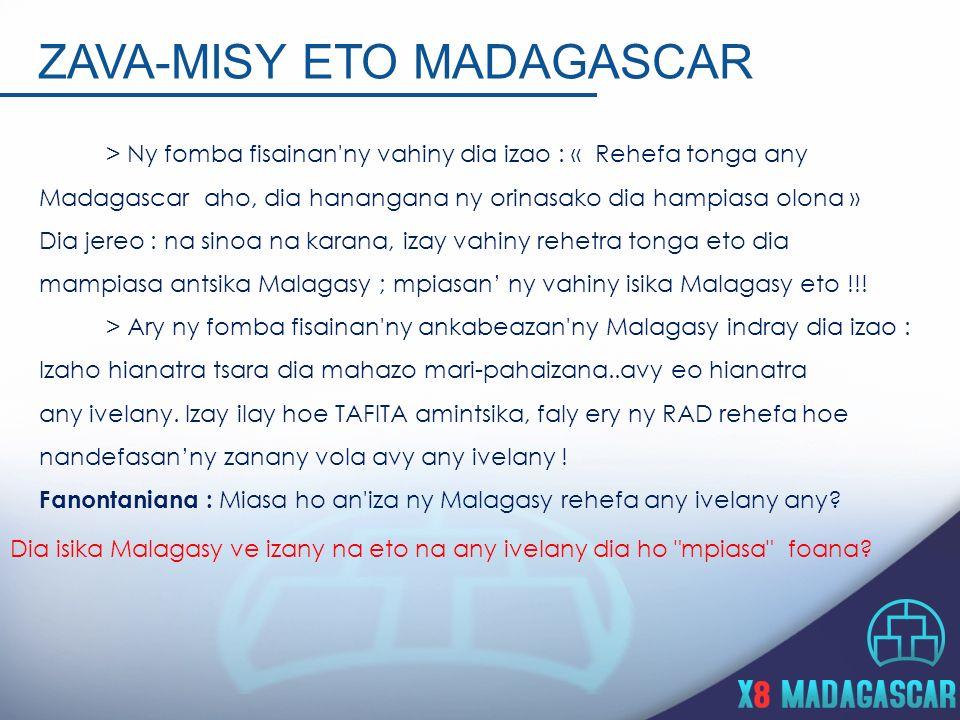 Zava-misy eto Madagascar