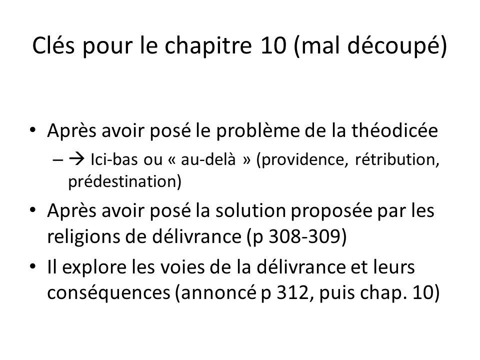 Clés pour le chapitre 10 (mal découpé)