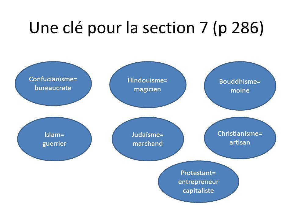Une clé pour la section 7 (p 286)