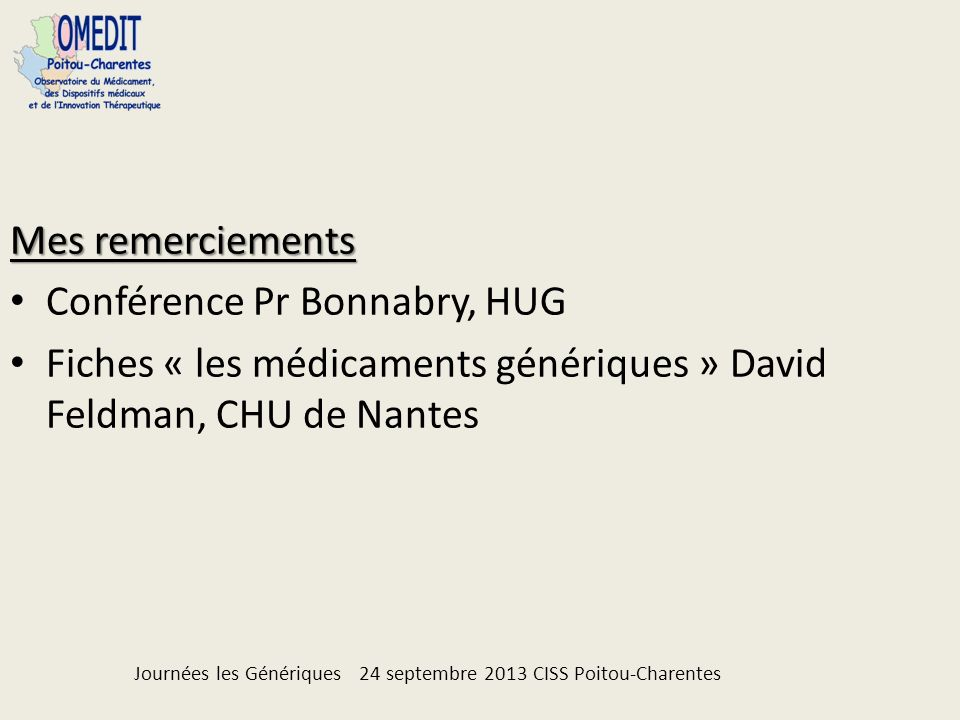 Conférence Pr Bonnabry, HUG