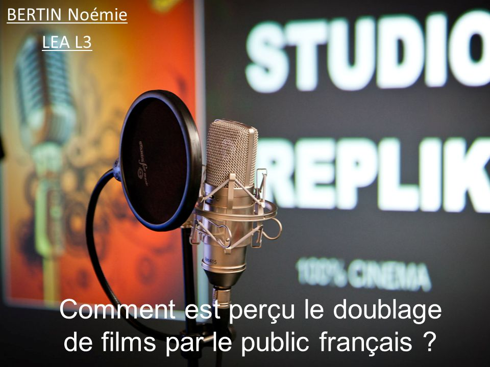 Comment est perçu le doublage de films par le public français