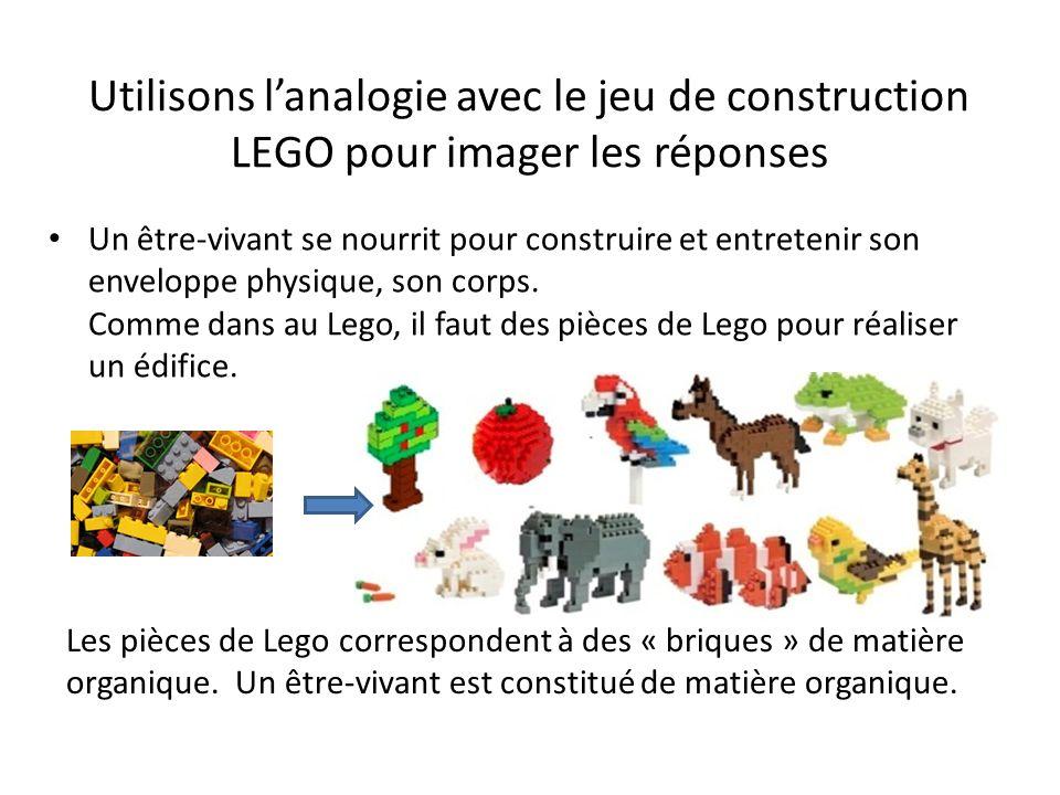 Utilisons l'analogie avec le jeu de construction LEGO pour imager les réponses