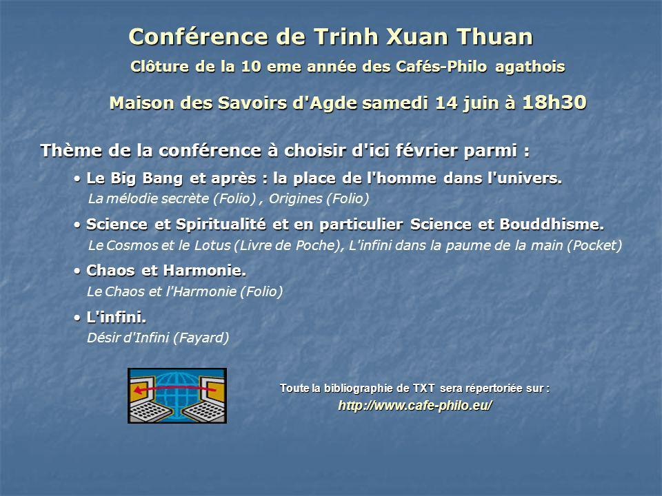 Conférence de Trinh Xuan Thuan