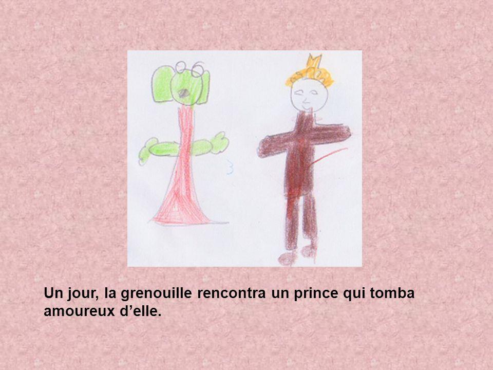 Un jour, la grenouille rencontra un prince qui tomba amoureux d'elle.