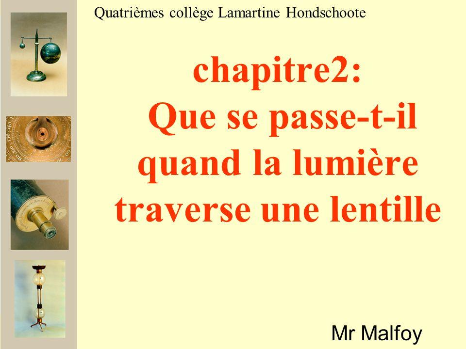 chapitre2: Que se passe-t-il quand la lumière traverse une lentille