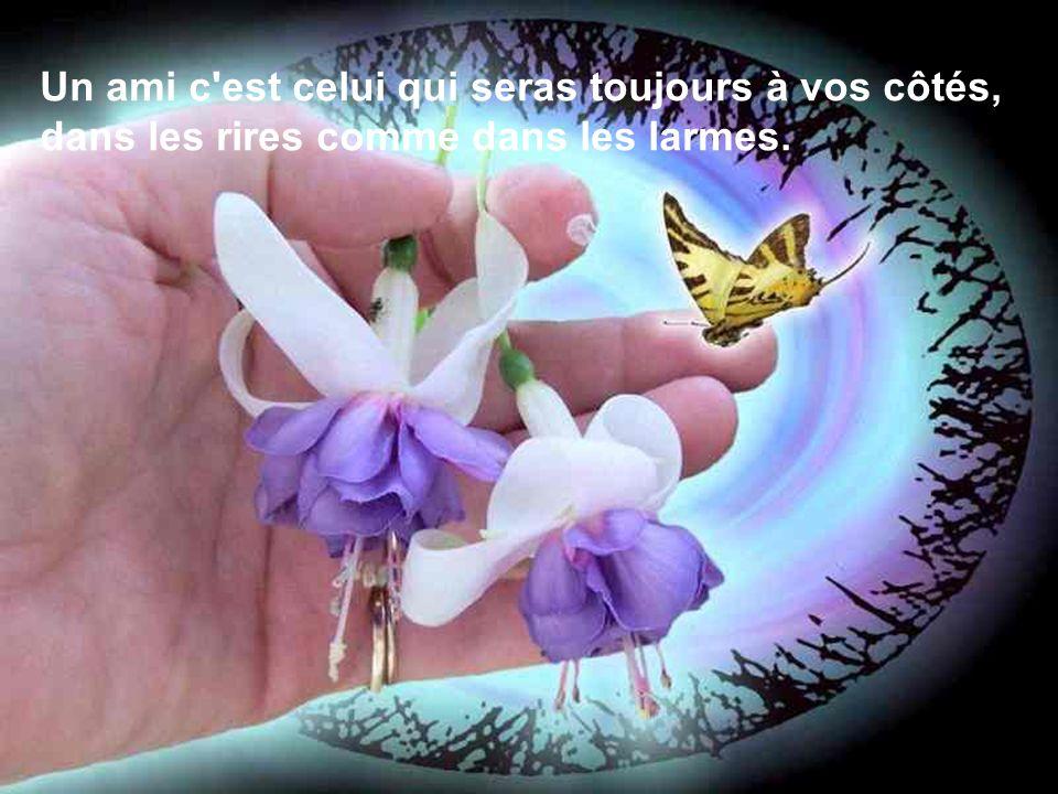 Un ami c est celui qui seras toujours à vos côtés, dans les rires comme dans les larmes.