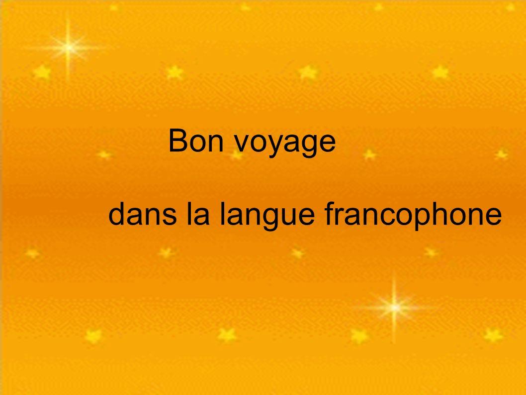 dans la langue francophone