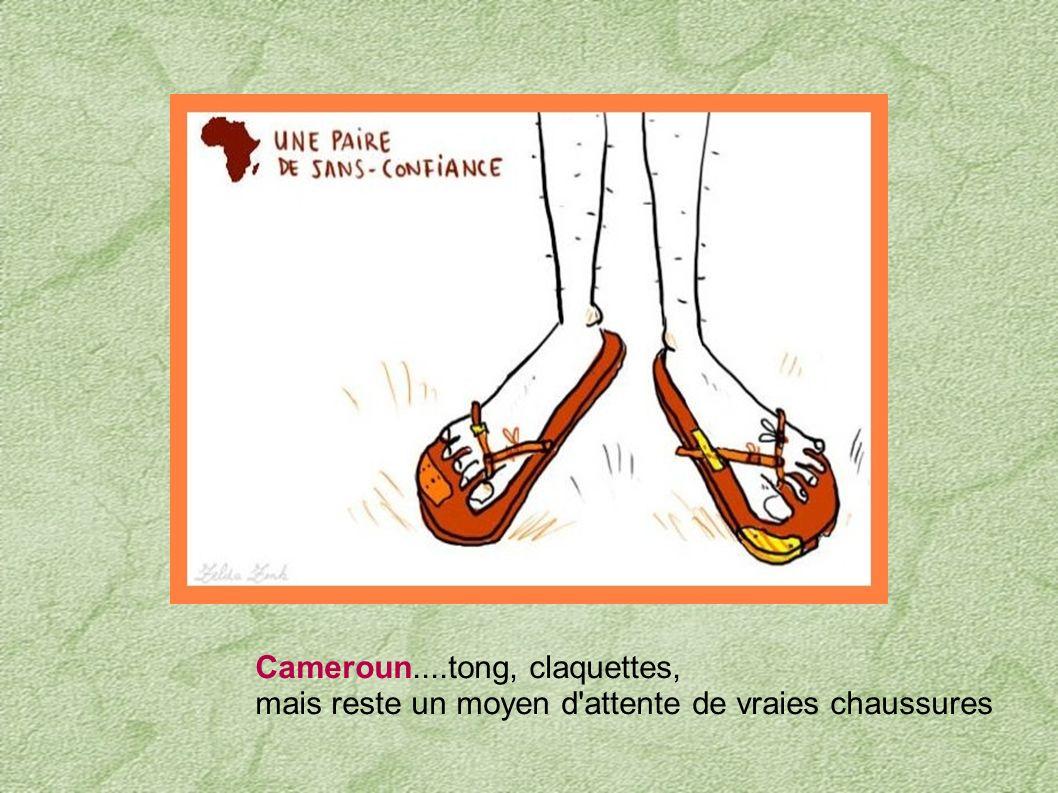 Cameroun....tong, claquettes,