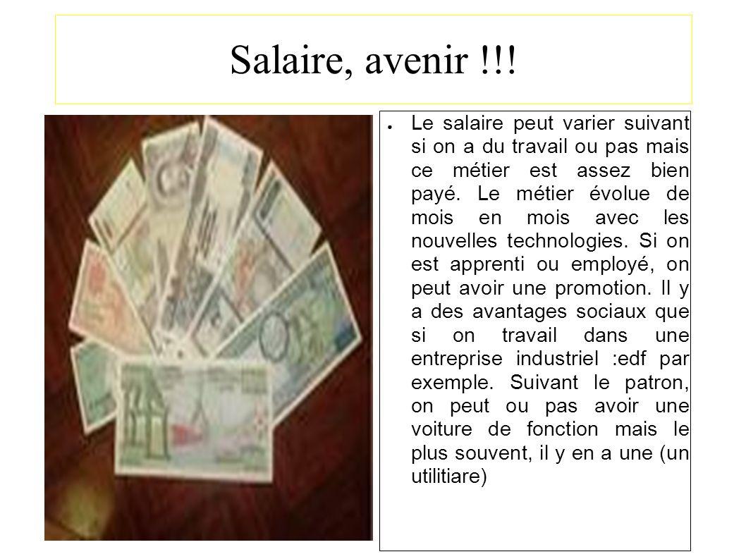 Salaire, avenir !!!