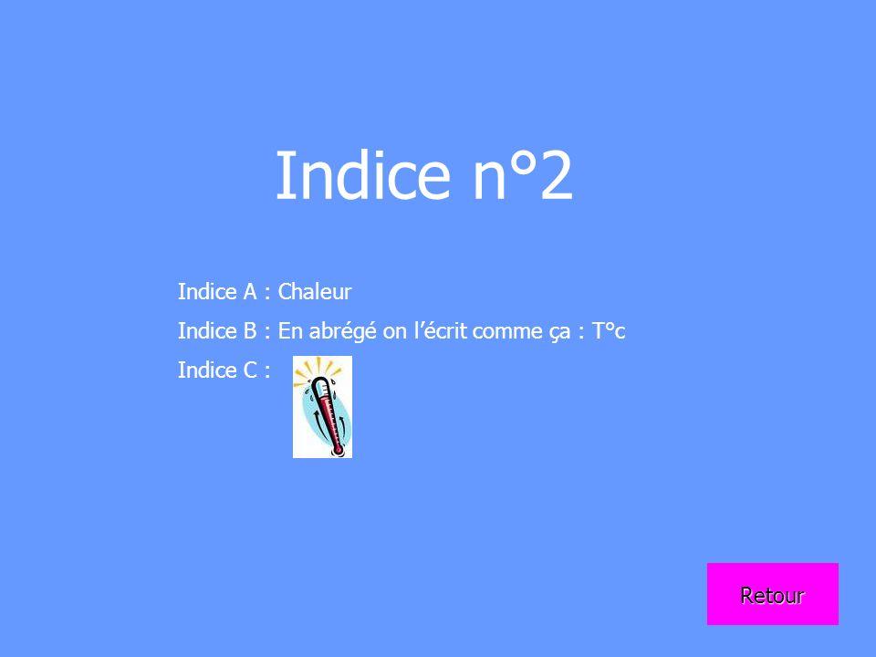 Indice n°2 Indice A : Chaleur