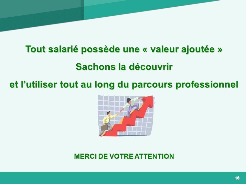 Tout salarié possède une « valeur ajoutée » Sachons la découvrir