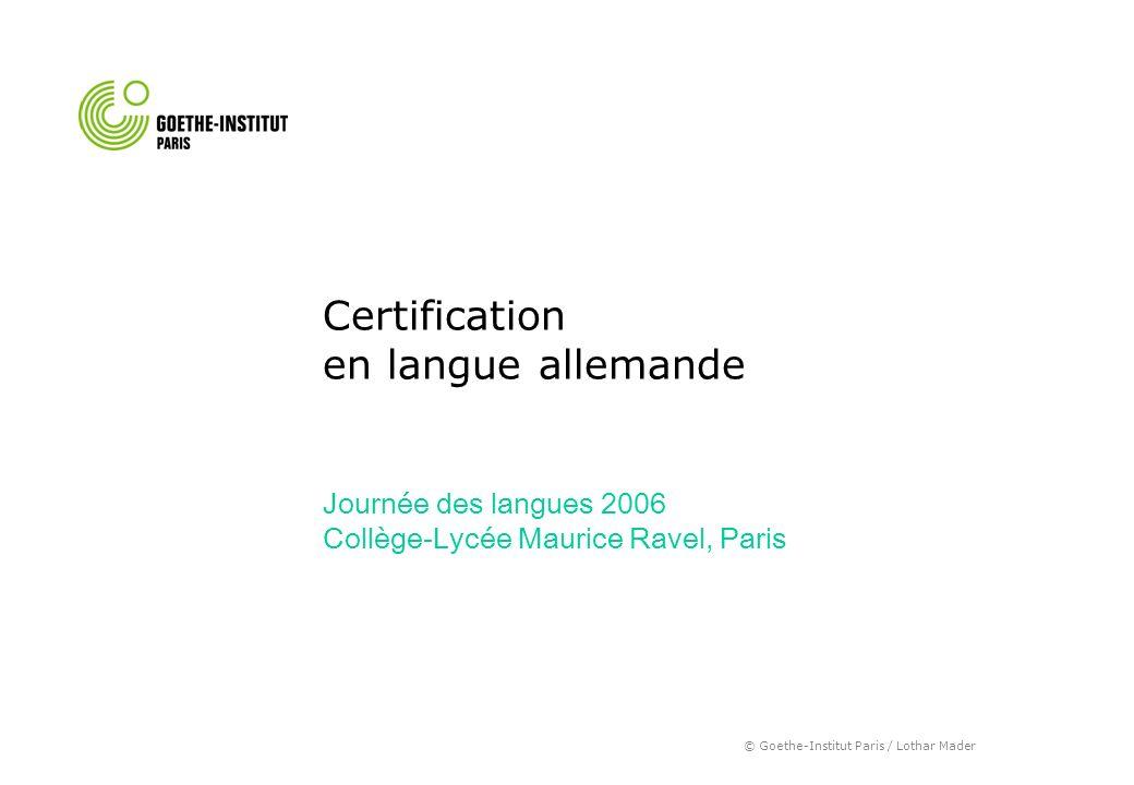 Certification en langue allemande