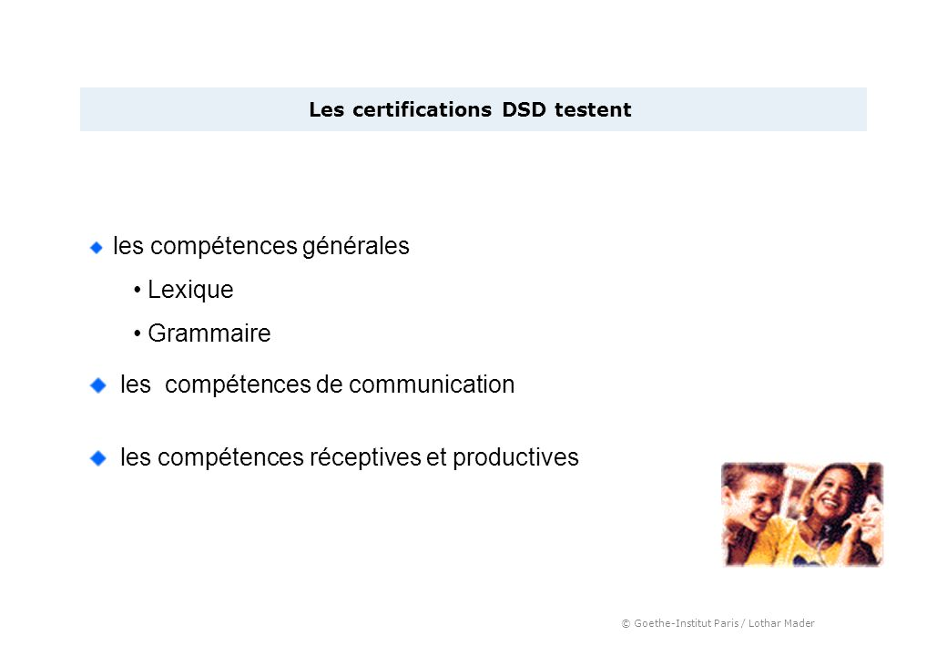 Les certifications DSD testent