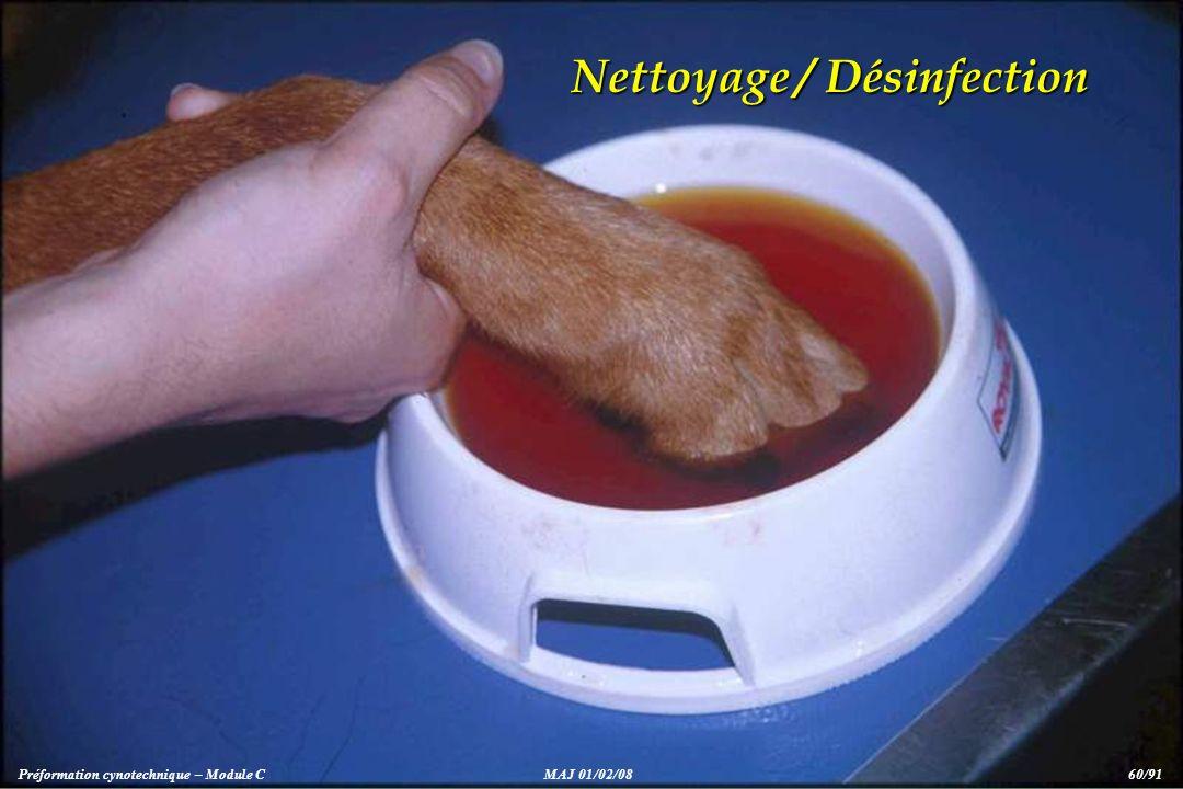 Nettoyage / Désinfection