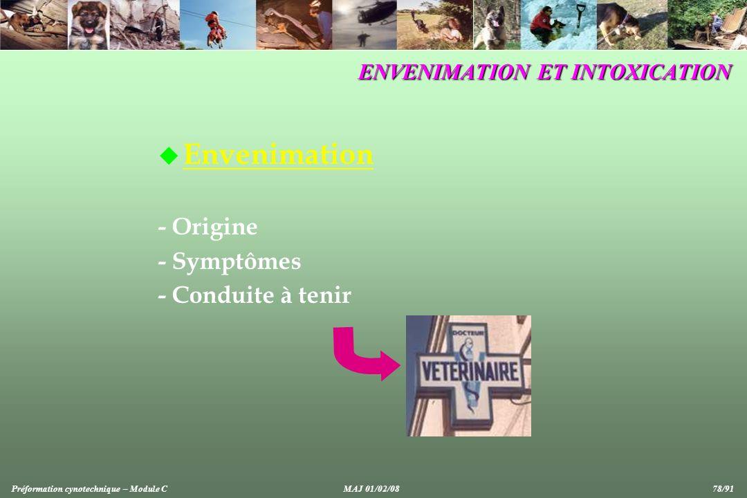 ENVENIMATION ET INTOXICATION