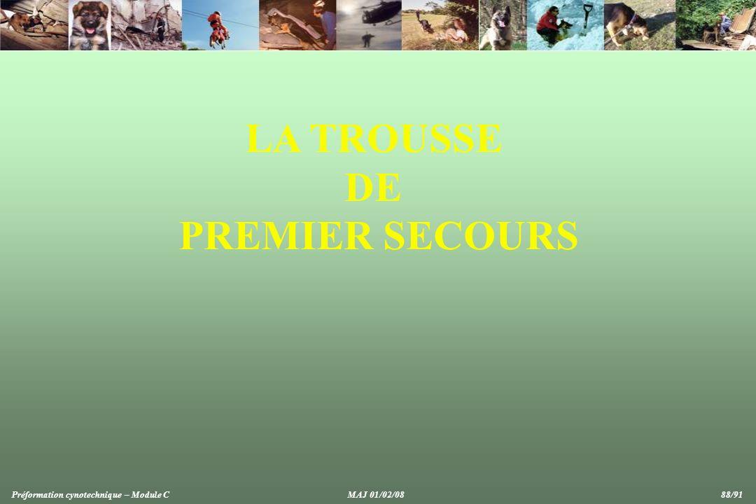 LA TROUSSE DE PREMIER SECOURS