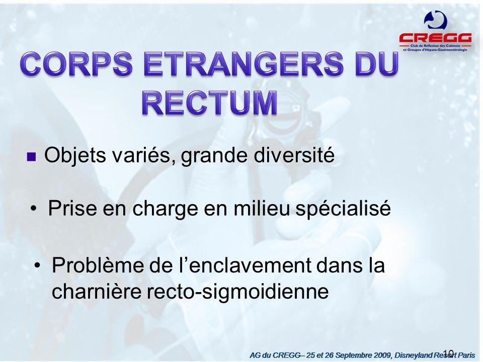 CORPS ETRANGERS DU RECTUM