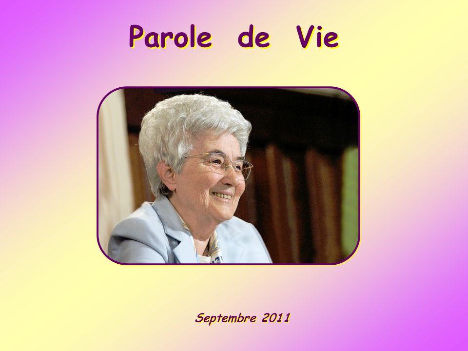 Parole de Vie Septembre 2011