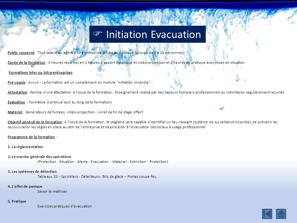  Initiation Evacuation