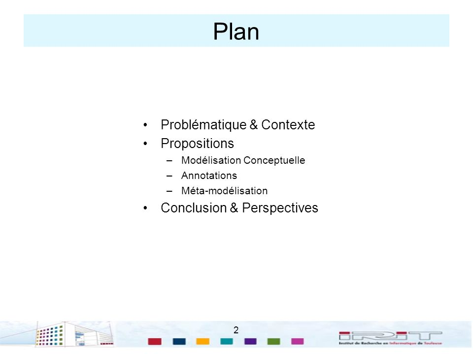 Plan Problématique & Contexte Propositions Conclusion & Perspectives