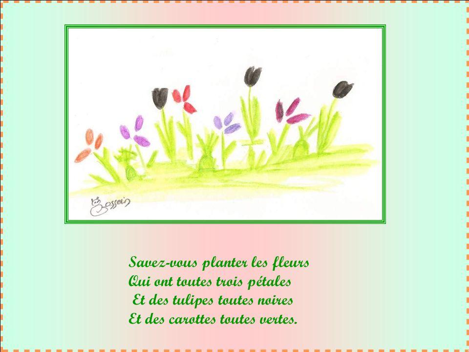 Savez-vous planter les fleurs