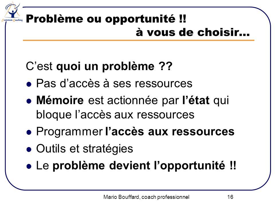 Problème ou opportunité !! à vous de choisir…