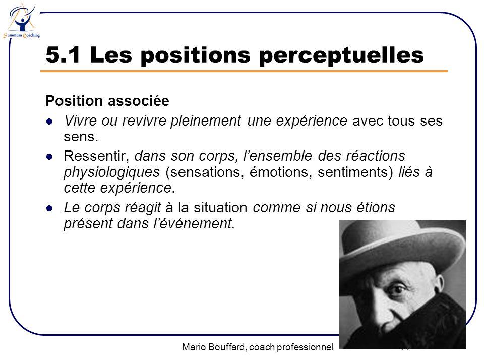 5.1 Les positions perceptuelles