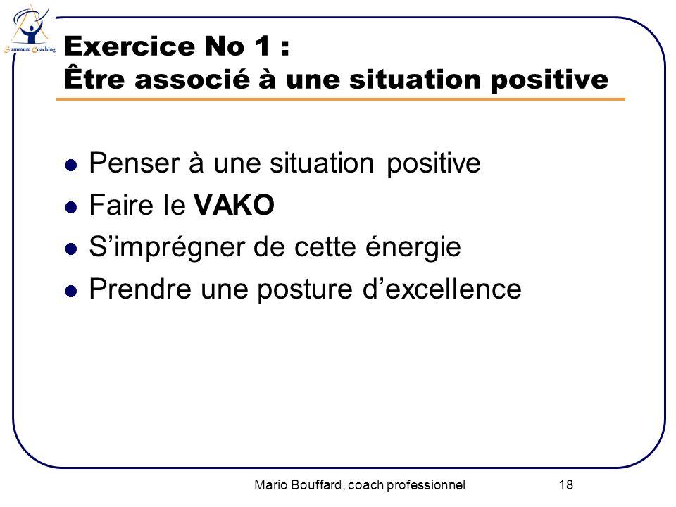 Exercice No 1 : Être associé à une situation positive