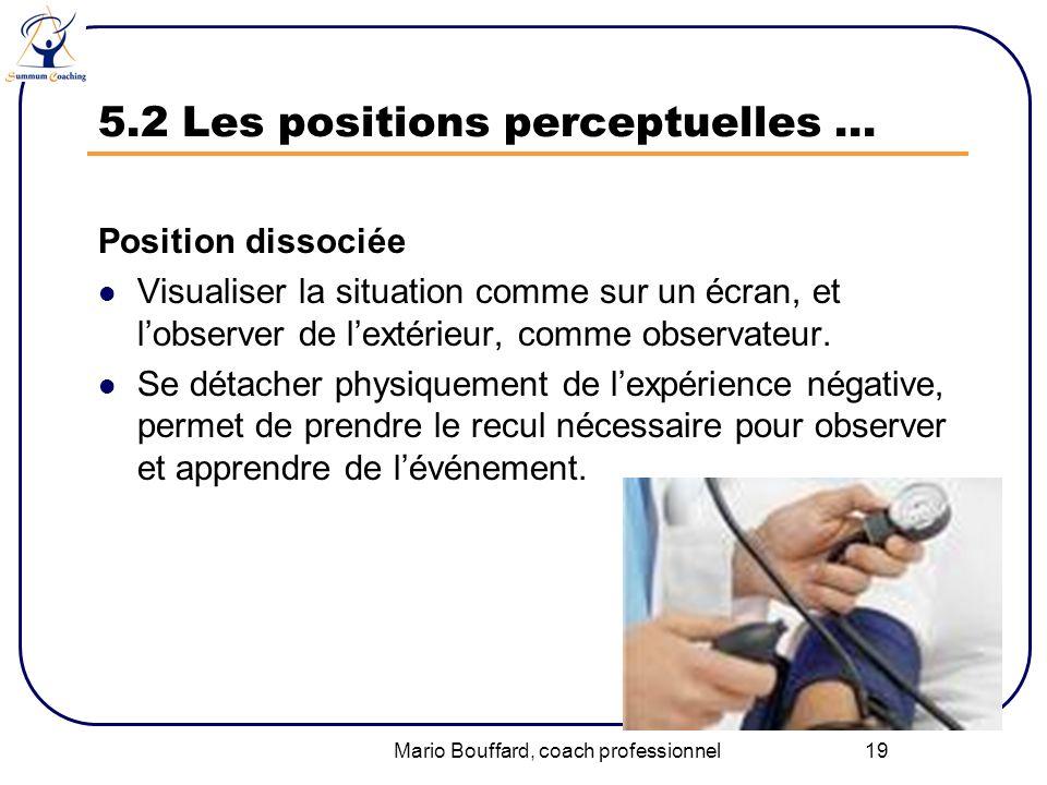 5.2 Les positions perceptuelles …