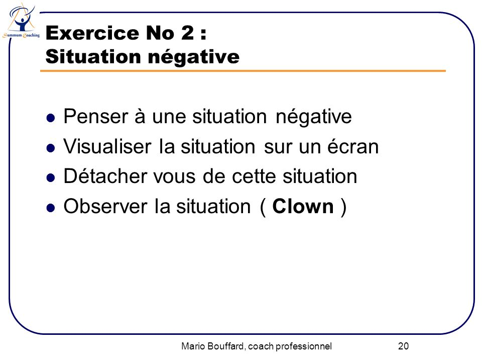 Exercice No 2 : Situation négative