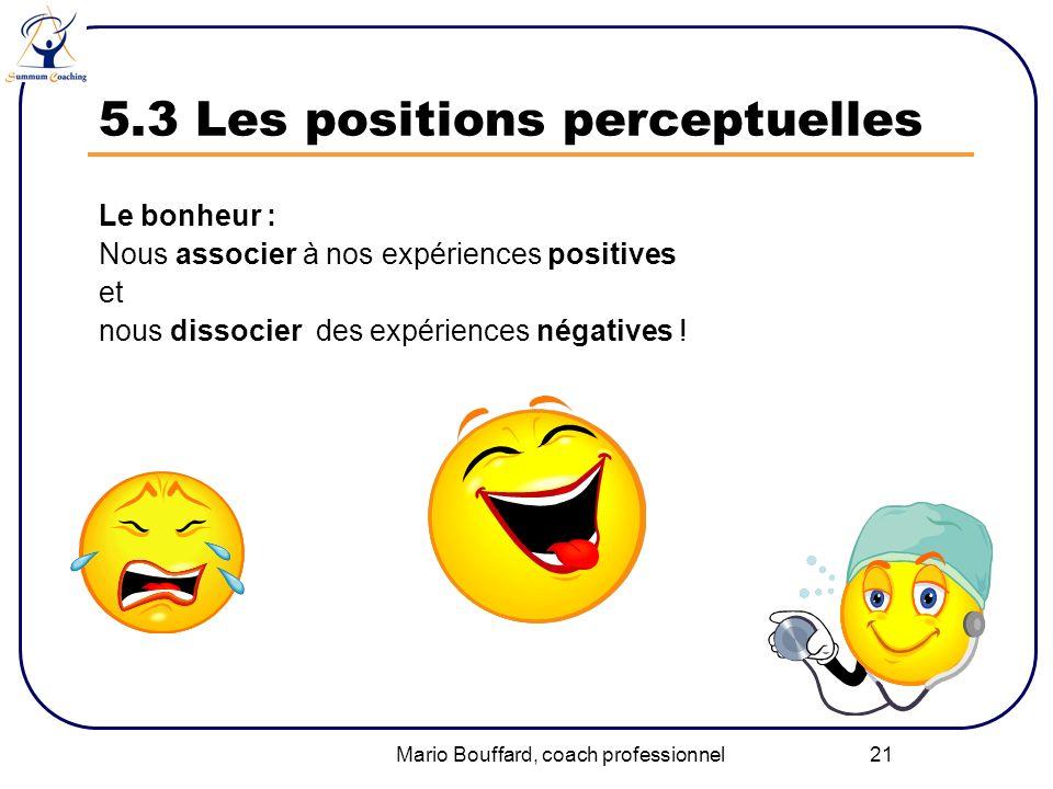 5.3 Les positions perceptuelles