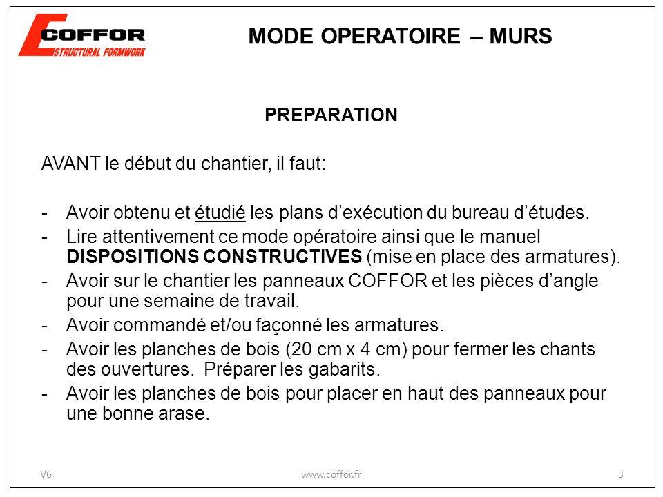 MODE OPERATOIRE – MURS PREPARATION