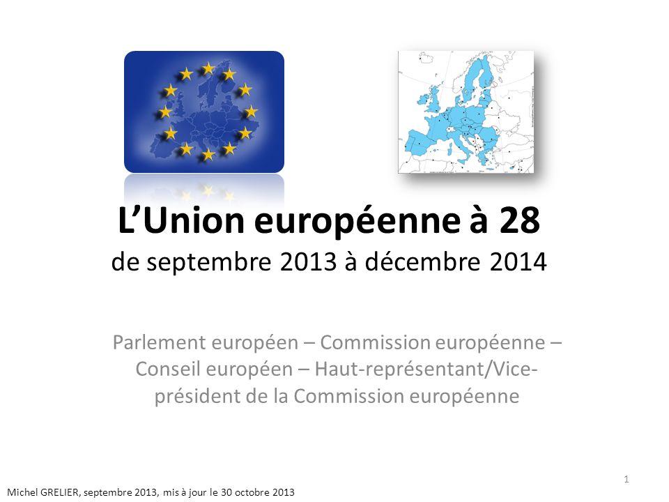 L'Union européenne à 28 de septembre 2013 à décembre 2014