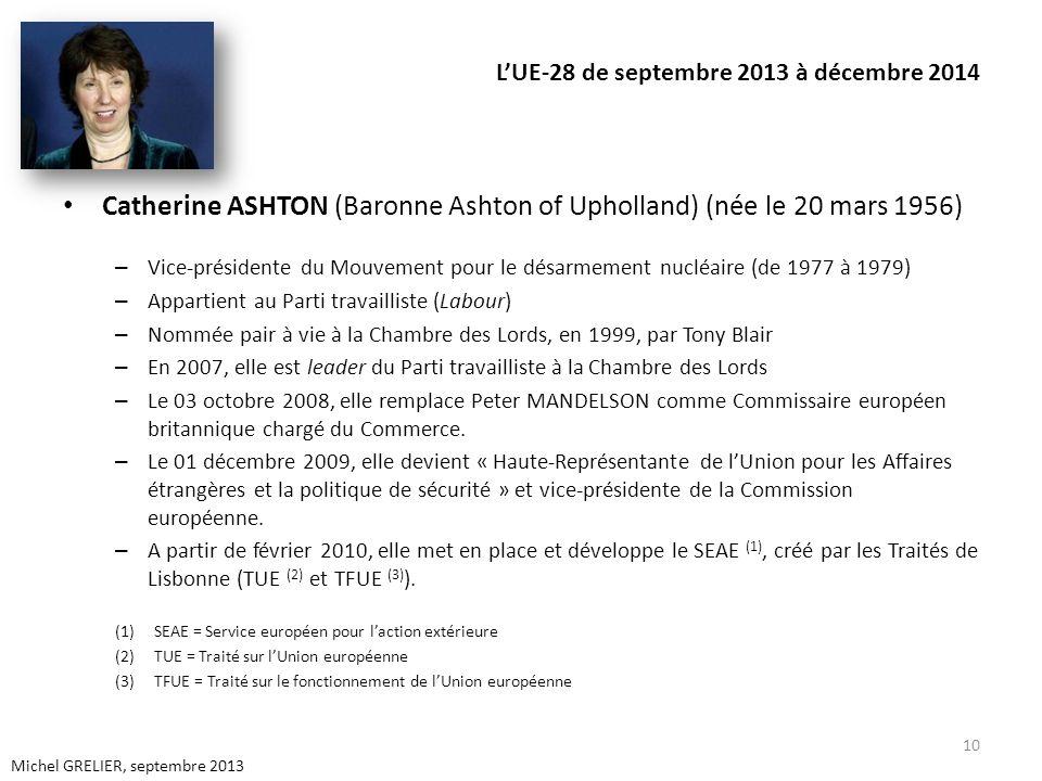L'UE-28 de septembre 2013 à décembre 2014
