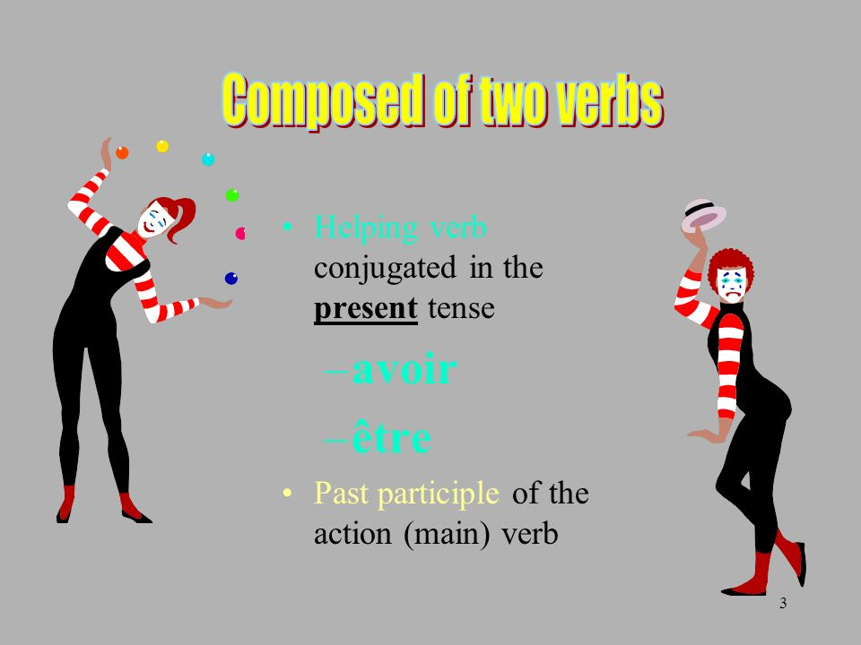 Composed of two verbs avoir être